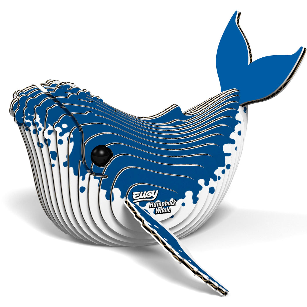Eugy Humpback Whale 3D Puzzle — Educational Toy for Boys and Girls, 28 PIece Puzzle