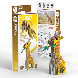 Eugy Giraffe 3D Puzzle — Educational Toy for Boys and Girls, 28 PIece Puzzle