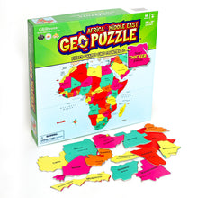 Load image into Gallery viewer, GeoPuzzle Africa and Middle East — Educational 65 Piece Geography Jigsaw Puzzle — Ages 4 and up