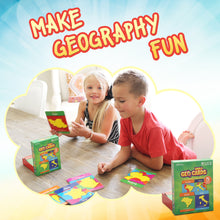 Load image into Gallery viewer, GeoToys — GeoCards World — Geography Card Games for Home, School and Travel — Learning Resources and Educational Toys — Kid Toys for Ages 4 and Up