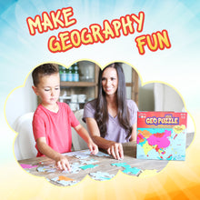 Load image into Gallery viewer, GeoPuzzle Asia — Educational 50 Piece Geography Jigsaw Puzzle — Ages 4 and up