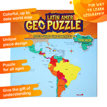 Load image into Gallery viewer, GeoPuzzle Latin America — Educational 50 Piece Geography Jigsaw Puzzle — Ages 4 and up