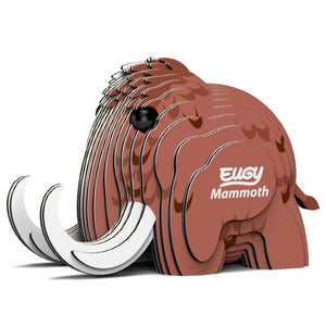 Eugy Mammoth 3D Puzzle — Educational Toy for Boys and Girls, 28 PIece Puzzle