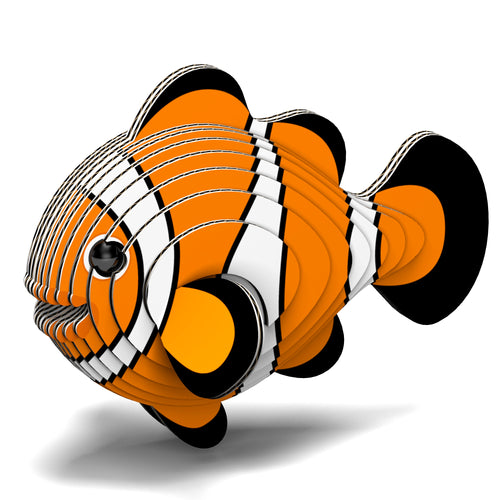 Eugy Clownfish 3D Puzzle — Educational Toy for Boys and Girls, 28 PIece Puzzle