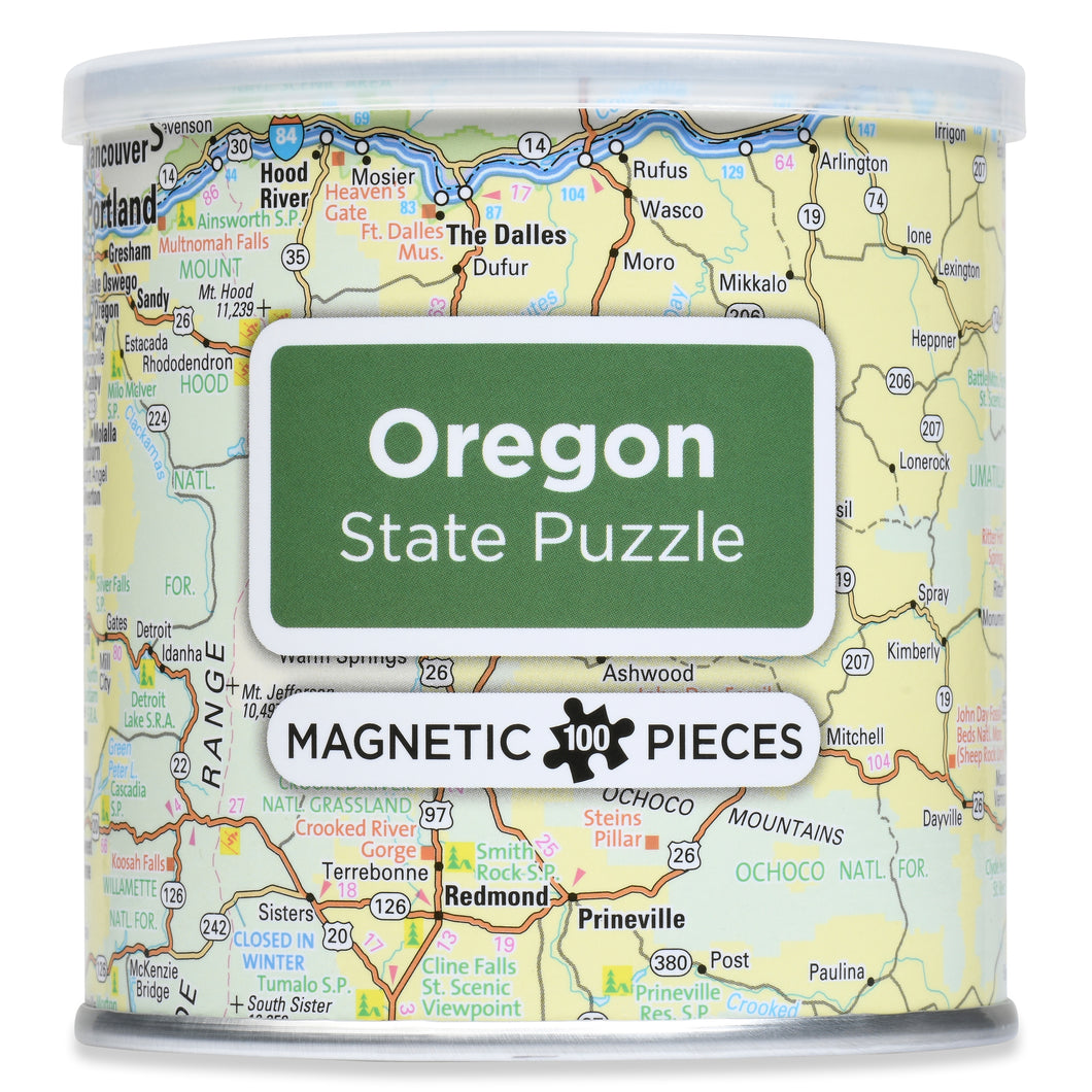 100 Piece Magnetic Puzzle - Oregon