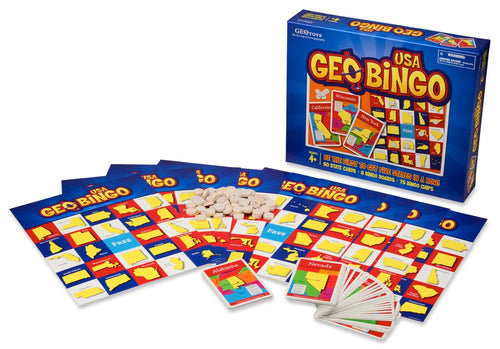 GeoBingo USA — Geography Educational Toy — Ages 4 and Up