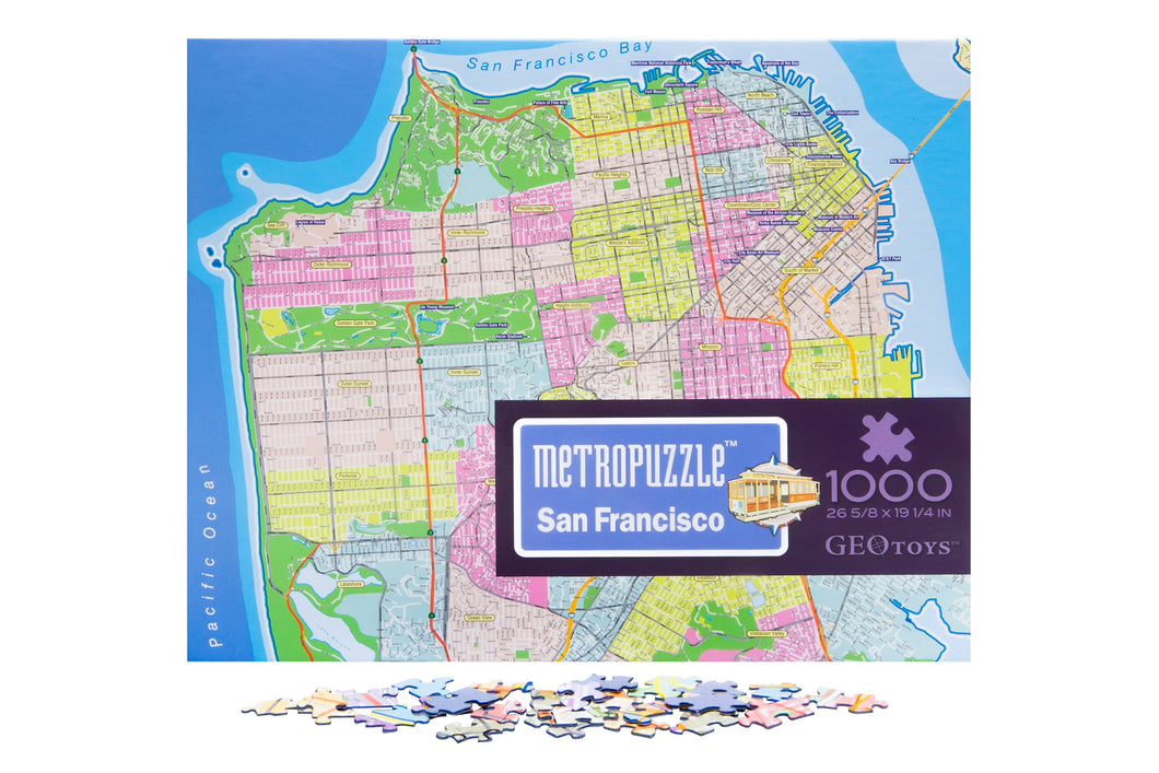 1000 pc jigsaw puzzle - San Francisco Metropuzzle