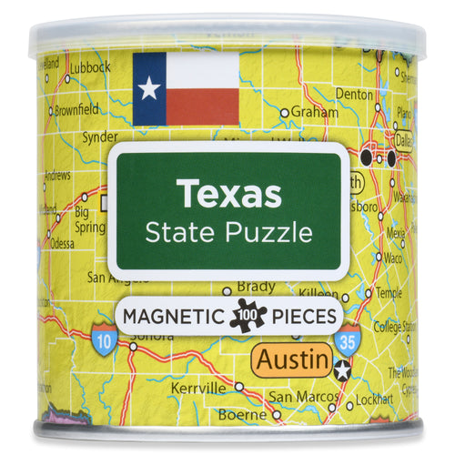 100 Piece Magnetic Puzzle - Texas