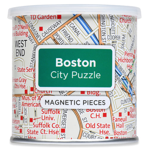 100 Piece Magnetic Puzzle - Boston