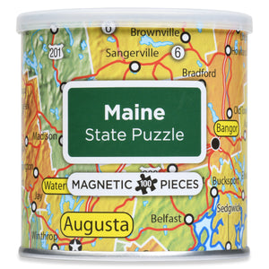 100 Piece Magnetic Puzzle - Maine