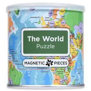 100 Piece Magnetic Puzzle - World