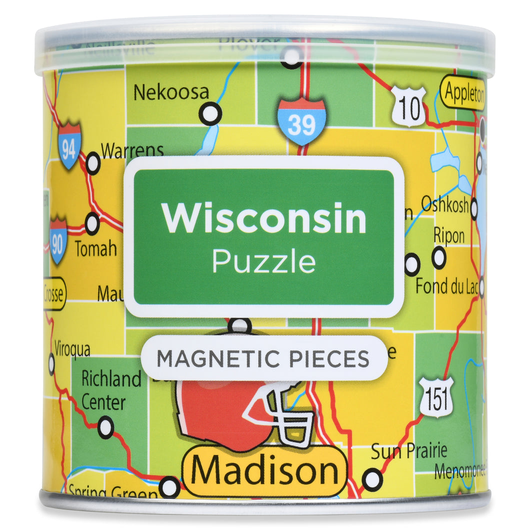 100 Piece Magnetic Puzzle - Wisconsin