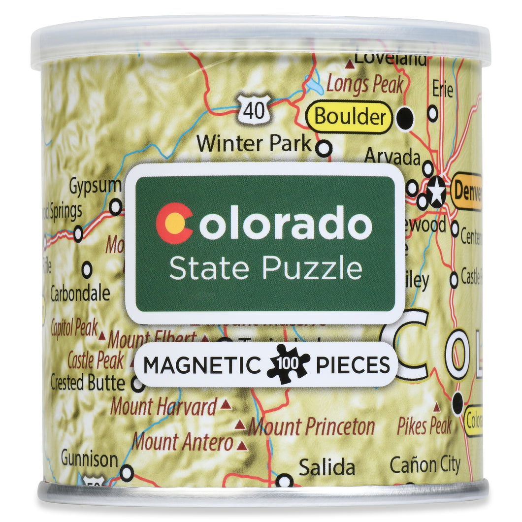 100 Piece Magnetic Puzzle - Colorado