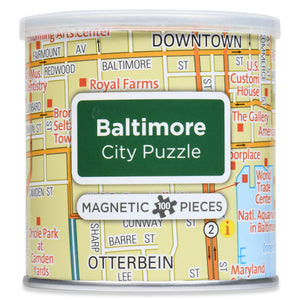 100 Piece Magnetic Puzzle - Baltimore