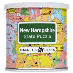 100 Piece Magnetic Puzzle - New Hampshire