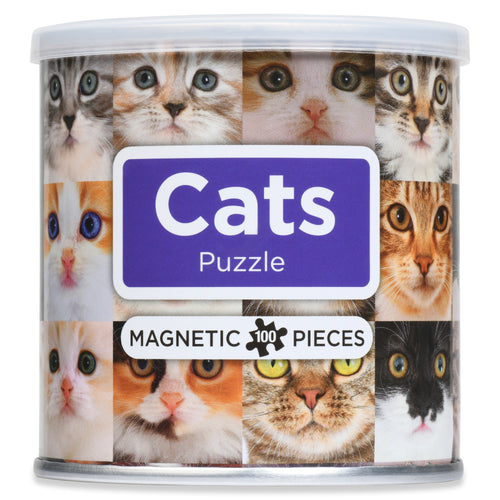 100 Piece Magnetic Puzzle - Cats