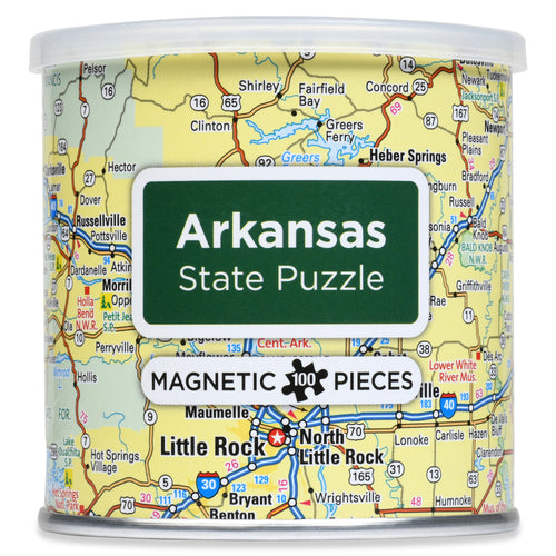 100 Piece Magnetic Puzzle - Arkansas