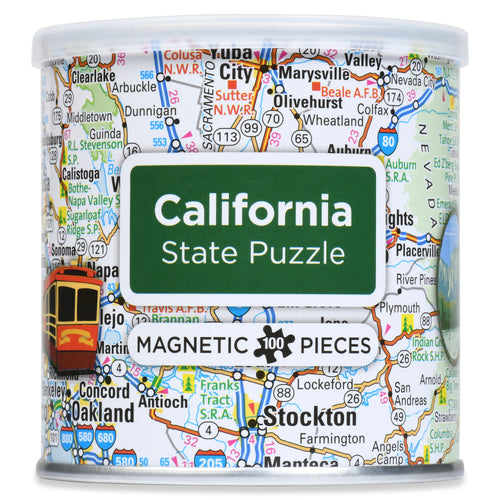 100 Piece Magnetic Puzzle - California
