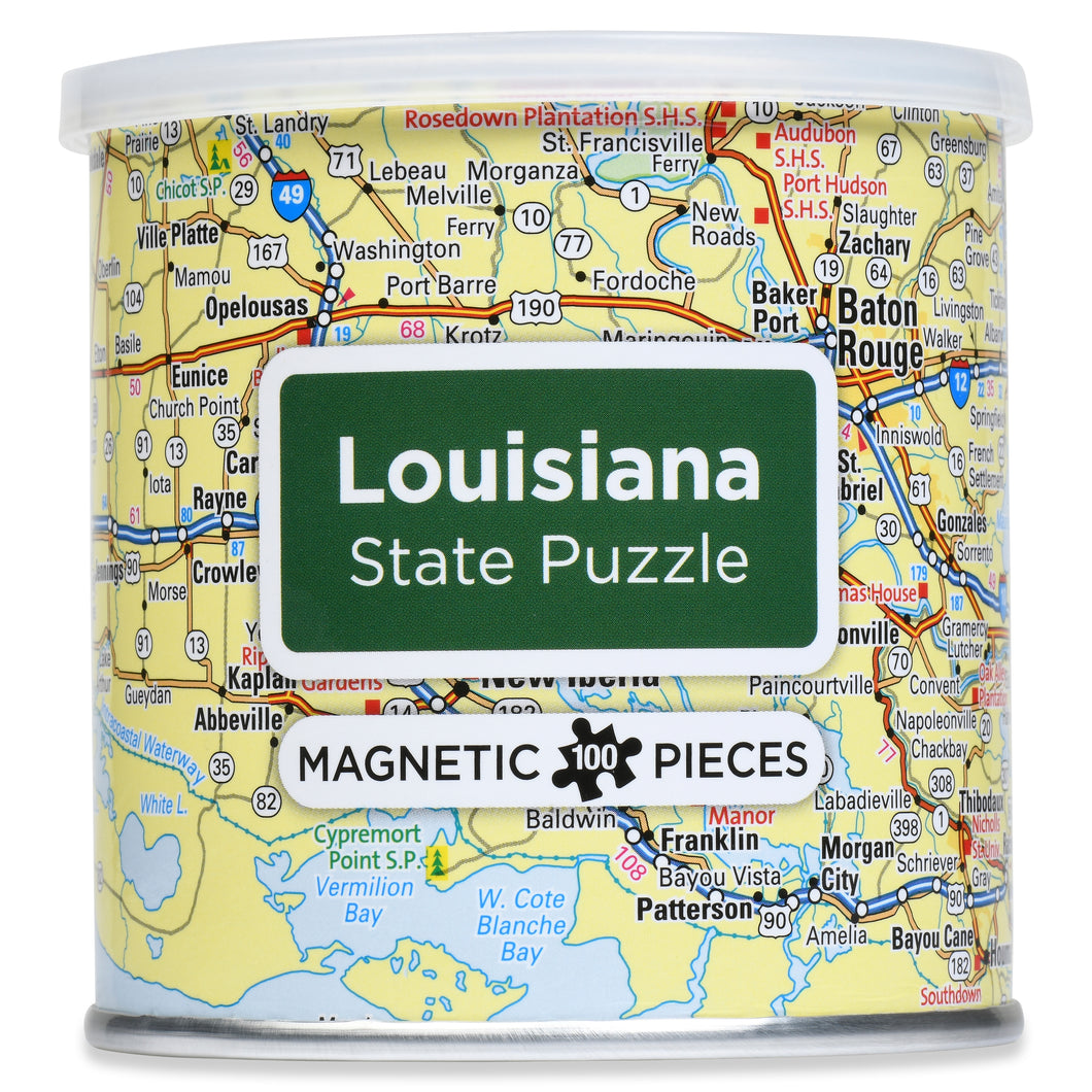 100 Piece Magnetic Puzzle - Louisiana