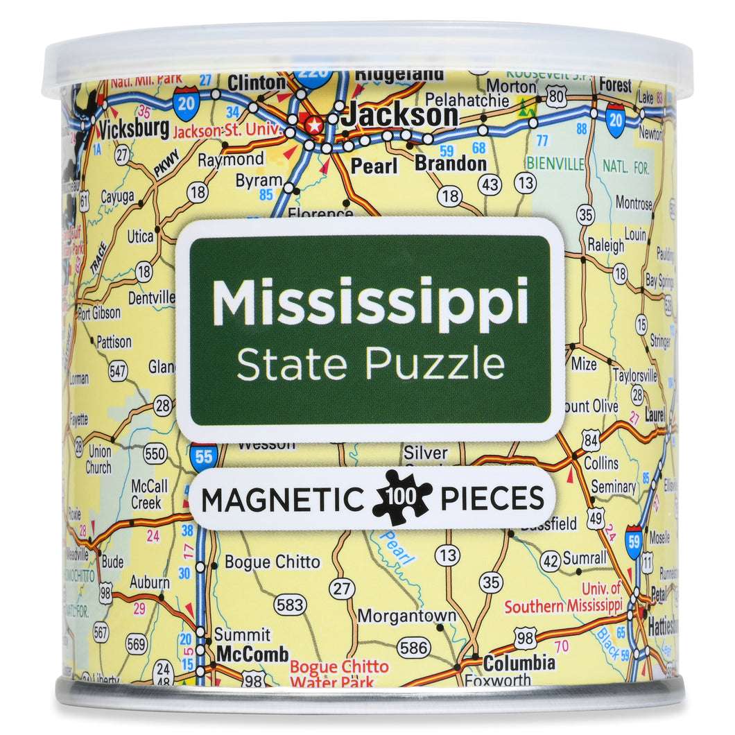 100 Piece Magnetic Puzzle - Mississippi