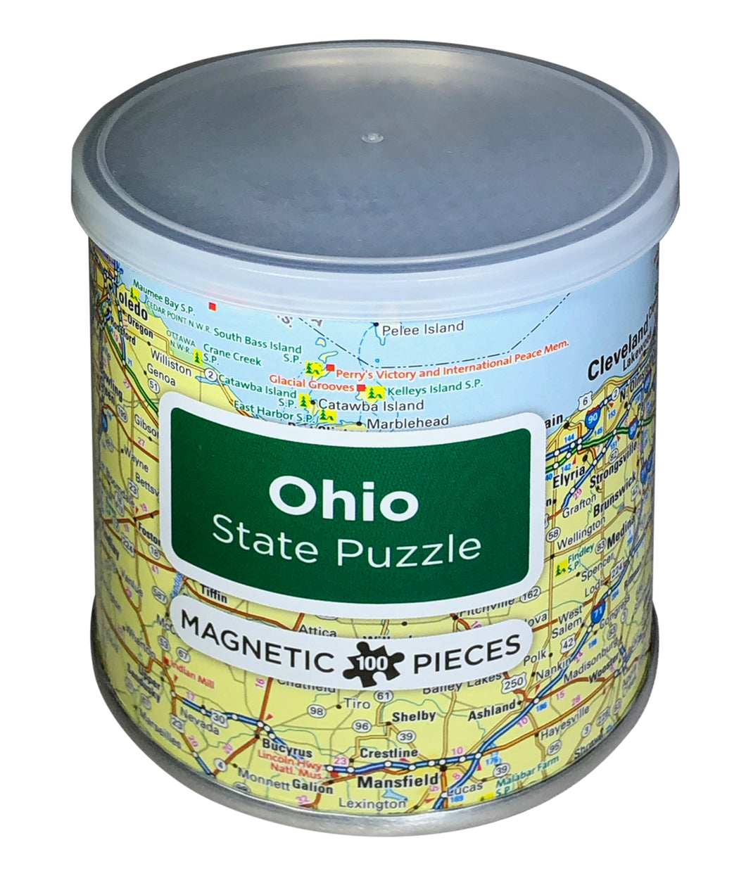 100 Piece Magnetic Puzzle - Ohio