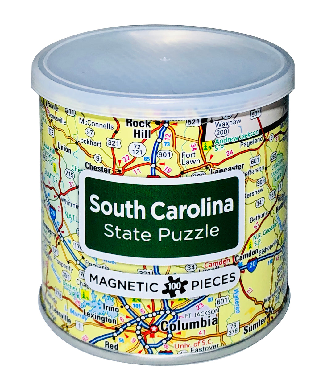 100 Piece Magnetic Puzzle - South Carolina