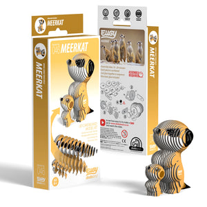 Eugy Meerkat 3D Puzzle — Educational Toy for Boys and Girls, 28 PIece Puzzle