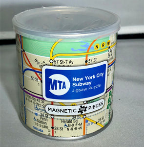 100 Piece Magnetic Puzzle - New York City Subway