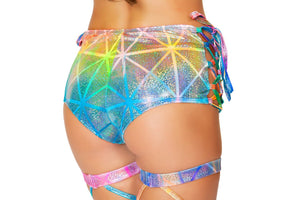Lace Up Dance With Me High Waisted Shorts, Shorts, Roma Costume, Need 2 Rave