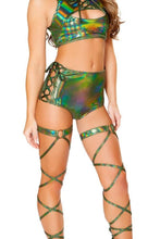 Load image into Gallery viewer, Lace Up Dance With Me High Waisted Shorts, Shorts, Roma Costume, Need 2 Rave