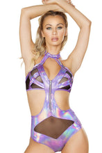 Load image into Gallery viewer, Zip Up Criss-Cross Bodysuit