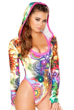Load image into Gallery viewer, Hooded Graphic Long Sleeve Bodysuit, FireFly Volume 3, J-Valentine Catalog, Need 2 Rave