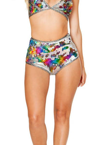 High Waist Reversible Sequin Short, FireFly Volume 3, J-Valentine Catalog, Need 2 Rave