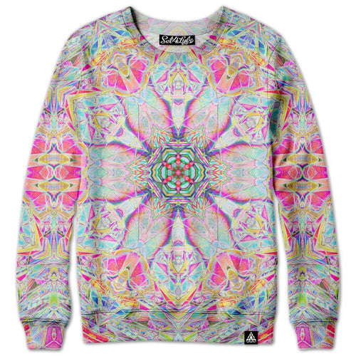 Set 4 Lyfe / Raining Brains - POLYRYTHM GLITCH BLOSSOM SWEATSHIRT - Clothing Brand - Premium Sweatshirt - SET4LYFE Apparel