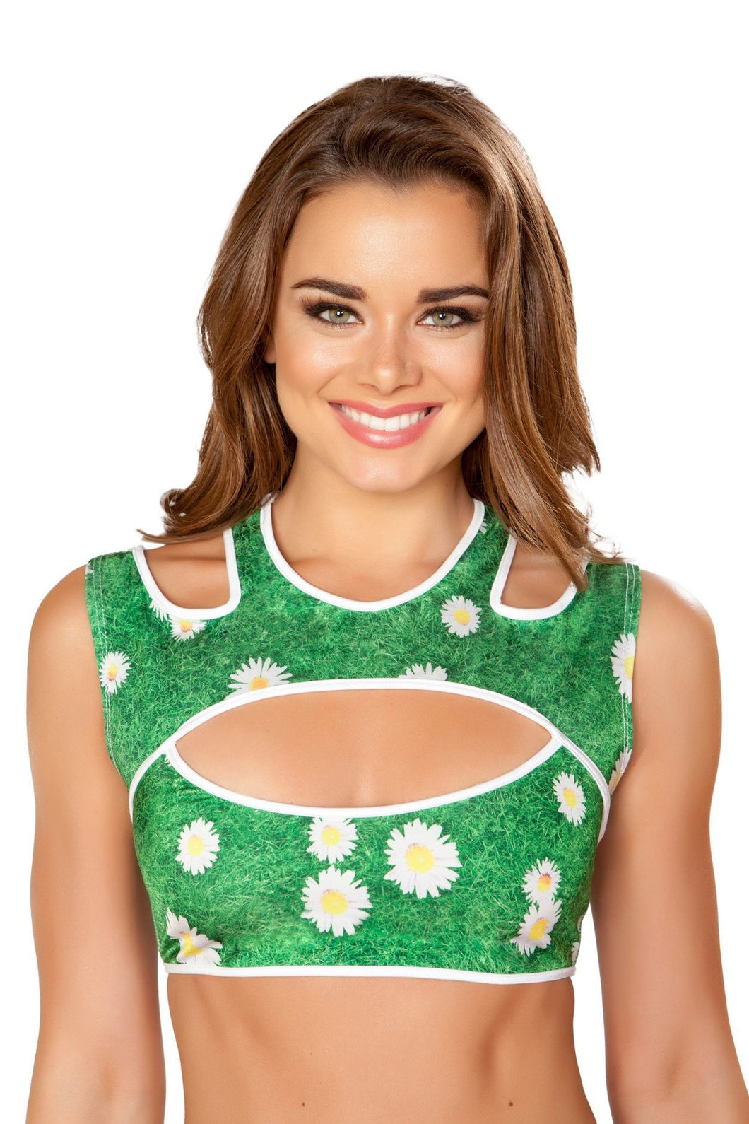 Double Strap Cutout Crop Top, Tops, Roma Costume, Need 2 Rave
