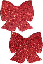Load image into Gallery viewer, Glittering Bow Pasties, , Need 2 Rave, Need 2 Rave
