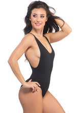 Load image into Gallery viewer, Nirvana Bodysuit in Black Cotton Spandex