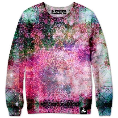 Set 4 Lyfe / DAQUALIA - PINEAL METATRON GALAXY SWEATSHIRT - Clothing Brand - Premium Sweatshirt - SET4LYFE Apparel