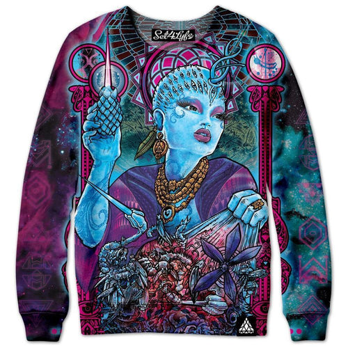 Set 4 Lyfe / Tom Denney - QUEEN OF THE COSMOSIS SWEATSHIRT - Clothing Brand - Premium Sweatshirt - SET4LYFE Apparel