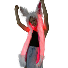 Load image into Gallery viewer, Light Up Rabbit Ears Scarf, , Shenzen Top Focus Industrial, Need 2 Rave
