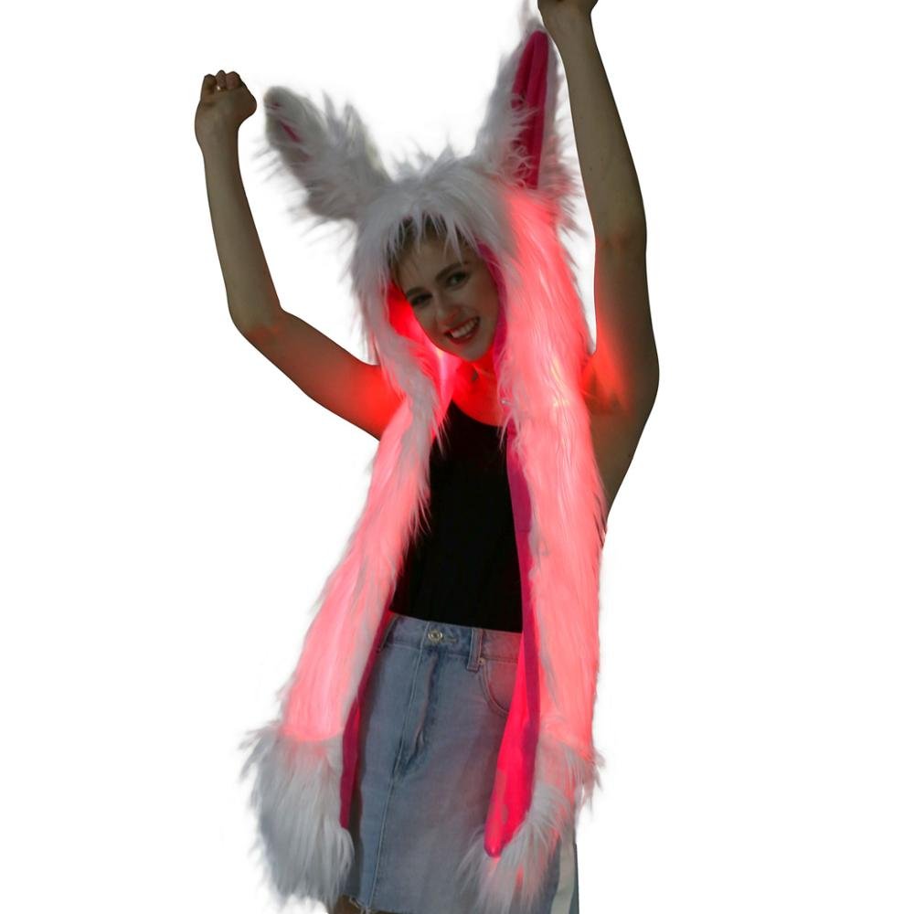 Light Up Rabbit Ears Scarf, , Shenzen Top Focus Industrial, Need 2 Rave