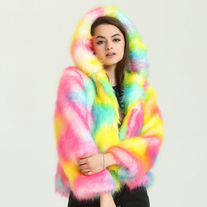 LED Light Up Rainbow Faux Fur Jacket, , Shenzen Top Focus Industrial, Need 2 Rave