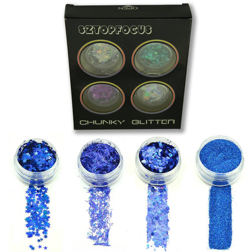 Royal Blue Glitter Set