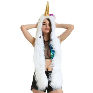 LED Faux Unicorn Hood Scarf, , Shenzen Top Focus Industrial, Need 2 Rave