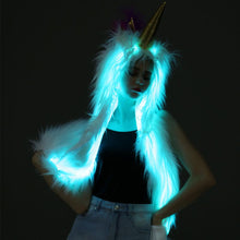 Load image into Gallery viewer, LED Faux Unicorn Hood Scarf, , Shenzen Top Focus Industrial, Need 2 Rave