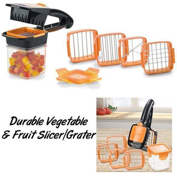 New 5-in-1 Multifunctional Vegetable Cutter Vegetable and Fruit Shredder Shredded and Sliced Nicker Dicer Quick