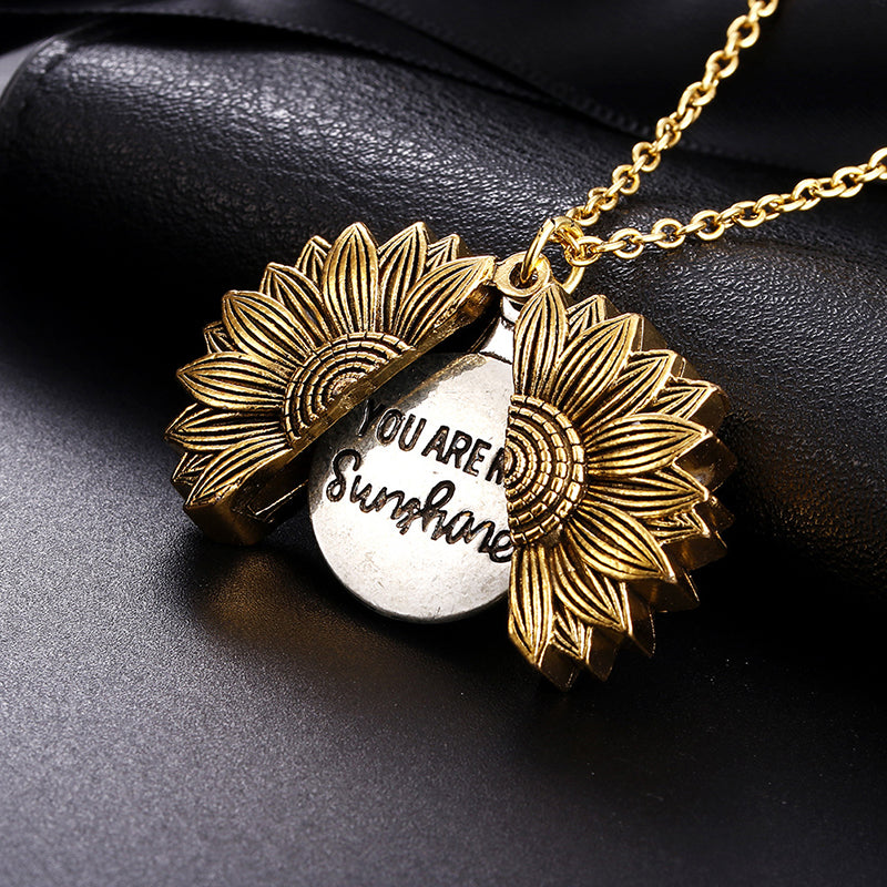 Sunflower Necklace-You Are My Sunshine
