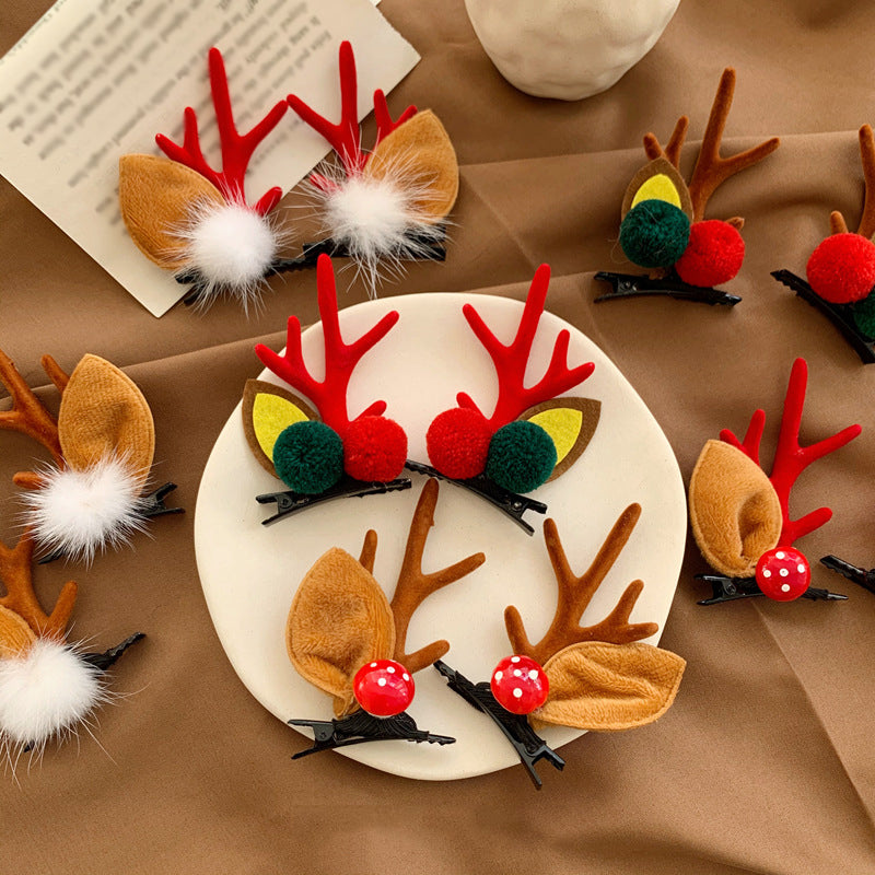 Christmas Cute Elk Top Hairpin