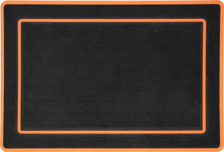 Yeti Roadie 20 Cooler Pad: Black over Orange - Bordered - 6mm