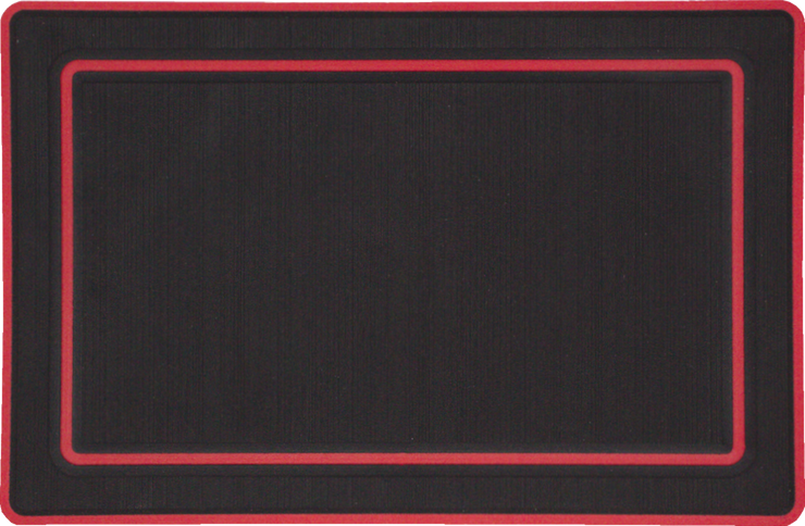 Yeti Roadie 20 Cooler Pad: Black over Red - Bordered - 6mm